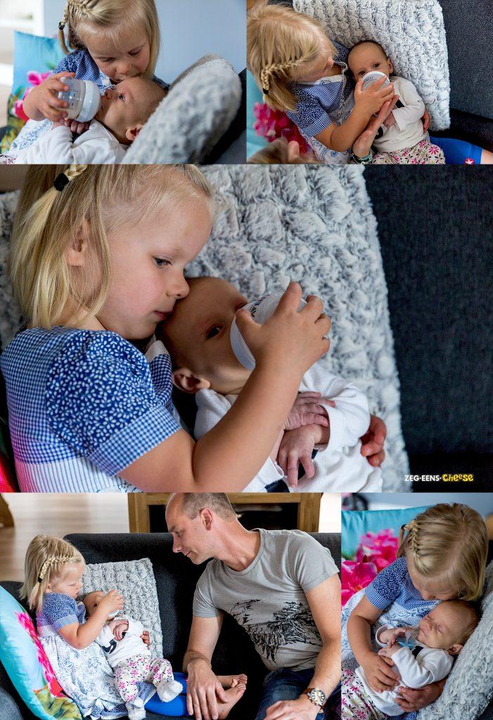 Lifestyle newbornfotografie