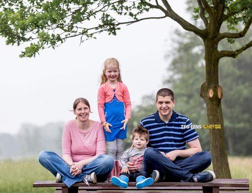 Familiefotografie Reeuwijksehout met zware mist