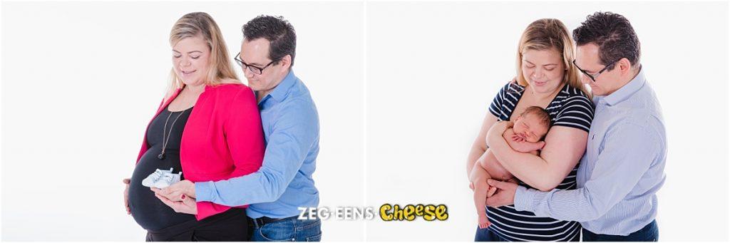 Newborn fotoshoot Rotterdam zwanger boor en na