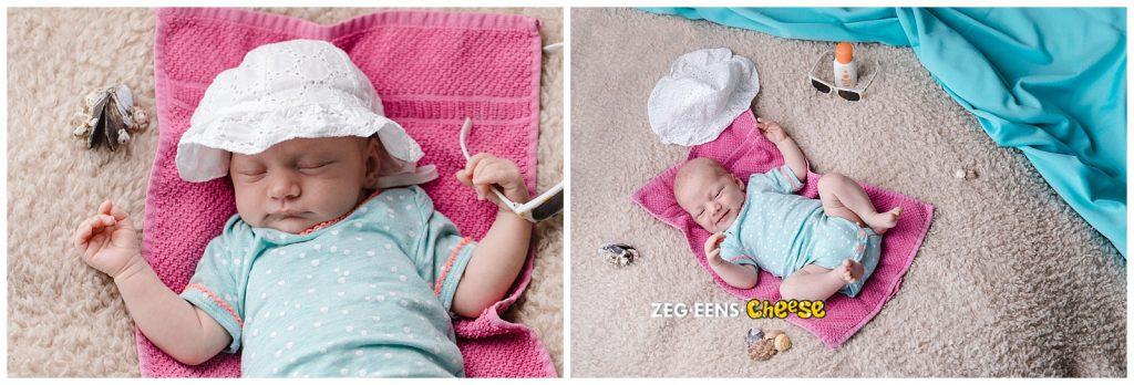 Newbornfotoshoot studio Rotterdam strand thema