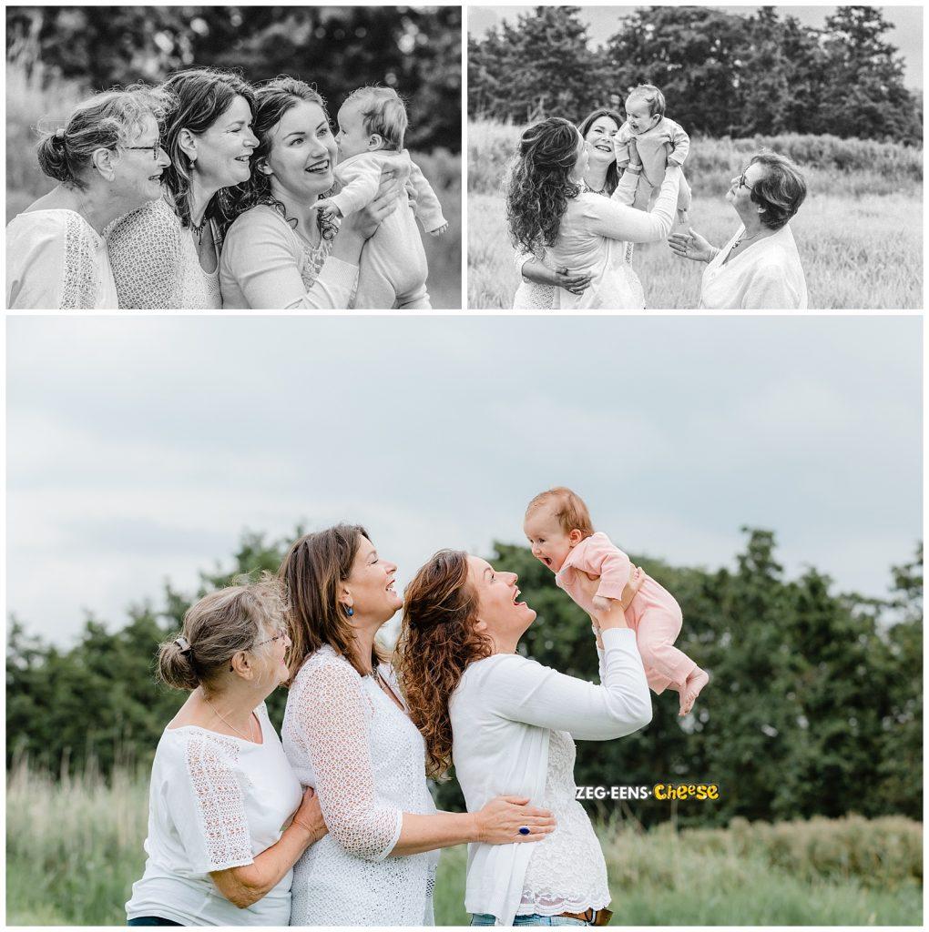 4 generaties fotoshoot