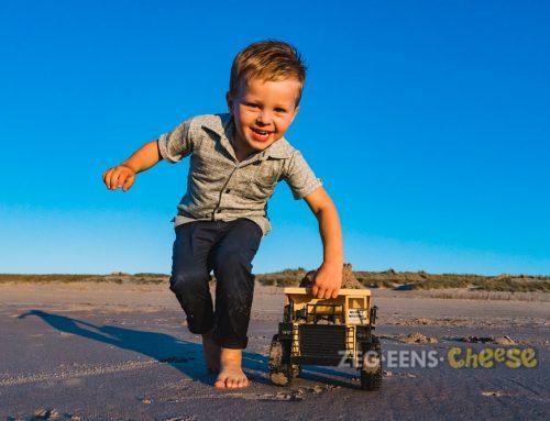 Familiefotoshoot aan het strand